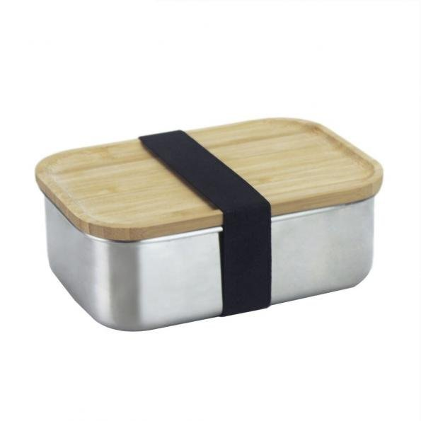 Bento Stainless Steel Bamboo Lid Lunchbox